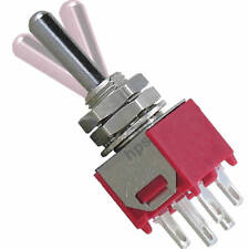 5 Kippschalter SUB Miniatur 2x TAST-AUS-TAST hochwertige Salecom Industriequalit