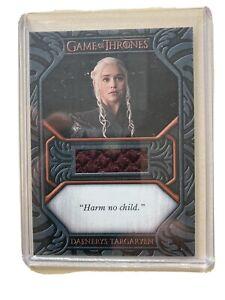 Daenerys Harm no child RA Game of Thrones Iron Ann. S1 Quotable Costume QC2