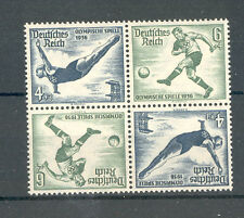 Germany - DR 1936 Olympic Games Stamps Block of 4 Tete-Beche MNH**