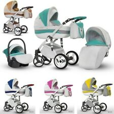 Baby Pram Pushchair EVADO ECO Eco-leather Travel System 3in1 4in1 Car Seat Iso