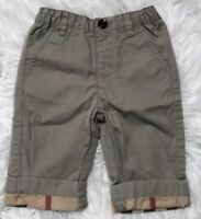 BURBERRY Children Baby Boys pants Size 6 Months Classic Check Excellent