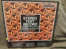 Stereo Test Record Lp Realistic Cat. No. 50-1001 Vinyl Ex (Close to Nm) Cover Nm