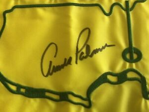Arnold Palmer signed undated Masters flag  JSA Authenticated