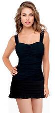 Profile Gottex Tutti Frutti Skirted Tankini 2Pc 38E 12 Swimsuit NWT $172 Black