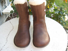 UGG NEW! Australia 1007760 Akadia Brown leather Winter Boots Lace Up Boots 8 M