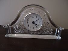 Royal Limited 24% Full Lead Handcut Crystal Mantel Clock Made in Czech Republic