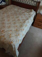 Vintage Retro Floral Non Iron Muslim Sheet Lemon Roses Pillowcases Double