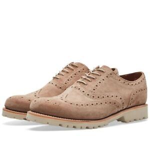 BNWB Mens Grenson Stanley Cloud Suede Brogues Shoes UK 10 RRP £220