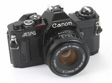 CANON AV-1 BLACK BODY, 50/2 CANON FD-N (MARKETED ONLY IN BRITAIN)/183855