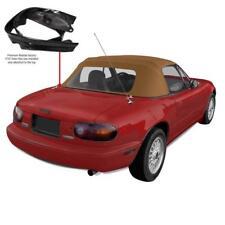 Mazda Miata Convertible Top & Attached (Pre-Installed) Rain Rail TAN Cabrio PC