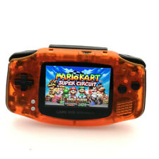 GBA Game Boy Advance Game Console with iPS Backlight LCD MOD System-Clear Orange