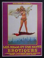 LES MILLE ET UNE NUITS EROTIQUES 1974 pressbook film cinéma poster erotic sexy