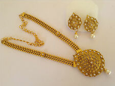 South IndianTraditional Jewellery gold pearl stone design necklace set &earring