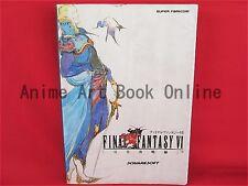 Final Fantasy VI 6 perfect strategy guide book / SNES