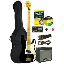 New Kona KBFDPK Deluxe 4 String Electric Bass Guitar Starter Pack for Dummies