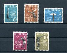 1962.ALBANIA.YVERT 576/80**.NUEVOS SIN FIJASELLOS.(MNH).CAT. 10 €