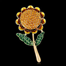 Fashion Alloy  Sunflower Plants Woman Pin and Brooch