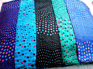 """PURE 100% INDIAN SILK HANDMADE SQUARE SPOTTED SCARF 21""""x21""""in 5 COLOURS £7.50nwt"""