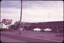 Cars Parked At the Mount Vernon Motel / Sign Vintage 1971 Slide Photo
