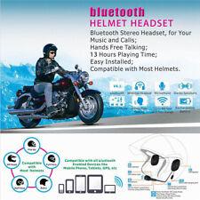 bluetooth Helmet Headset Wireless Siri Headphones For Motorcycle Scooter Music