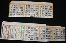 BINGO PAPER Card 3 on 10 Orange Bdr 50 packs horizontal FREE PRI SHIPPING