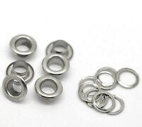200 Stück Silber Ösen Ringösen Ösen Locheisen Ösenknopf Eylets 5mm