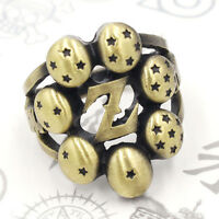 Fashion Anime DragonBall Z Logo Bornze Metal Finger Ring Cosplay Gift US Size 8