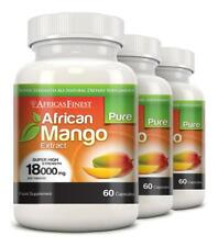 Africas Finest Pure African Mango Pills 18000mg 180 Capsules Evolution Slimming