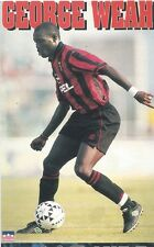 GEORGE WEAH AC MILAN Original Starline Poster MINI Promo Piece 3x5