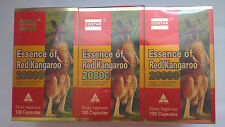 Costar  Essence Of Red Kangaroo 20800 Max 100 Capsules 1 Pack Of 3 Bottles