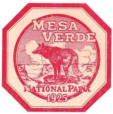 Mesa Verde  National Park  Colorado  Vintage  1920's Style  Travel Decal sticker