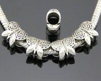 30pcs Tibetan Silver Butterfly Charm Beads Fit Bracelet ZY127