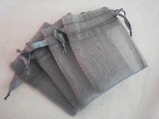Grey Favor Pouches Gift Organza Bags for Wedding Party Baby Shower