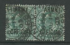 GB OFFICIAL ARMY KE7 1/2d PAIR...SCOTLAND EDINBURGH NPB