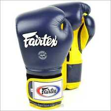 Fairtex Mexican Style Boxing Gloves - Blue Yellow Muay Thai Boxing Sparring