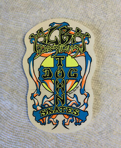 Vintage skateboard sticker Dogtown Micke Alba Jay Santa Cruz Natas Mark Deck NOS