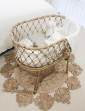 Rattan Cane Baby Bassinet New Condition