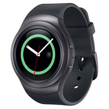 Genuina SAMSUNG GEAR S2 Deporte Reloj Inteligente SM-R720 frecuencia Cardiaca Fitness Gris Oscuro