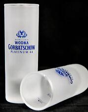 Gorbatschow, Vodka, Shotglas, Stamper, frosted satiniert, platinium.
