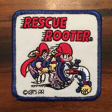 VINTAGE RESCUE ROOTER PLUMBING EMBROIDERED PATCH