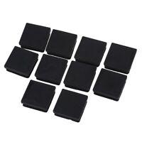 3X(10Pcs Black 40mm x 40mm Plastic Square Tube Inserts End Blanking Caps H1M6