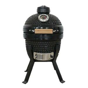 "Kamado Bono Picnic13"" BBQ Grill Smoker Ceramic Egg Charcoal Cooking Oven Outdoor"