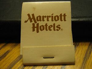Vintage Marriott Hotels We do it right At Any Marriott Hotel Matchbook