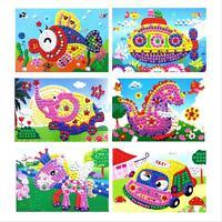 Baby Kid Developmental Game 3D Crystal Mosaics Art Sticker Educational Craft Toy