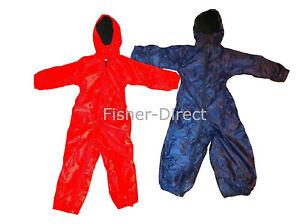 Childrens all in once fleece lined rain suit girls boys waterproof kids childs