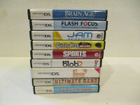 9 EMPTY Nintendo DS Game case & Manuals NO GAMES INCLUDED  (Nintendo DS)
