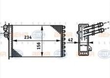 NEW Heater Core Behr Hella Service 351311021 1j1819031B 1999-2010 VW BEETLE