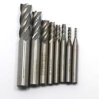 7pc New Roughing Chipbreaker Milling Cutter HSS End Mill Router Bit 6-20mm