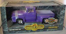 ERTL 1/18 1956 Ford F-100 Street Rod Truck PURPLE 7770 SEALED American Muscle 56