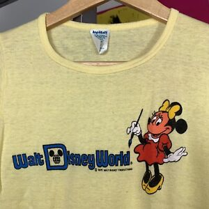 1978 Vintage 70s Walt Disney World Minnie Mouse Paint Brush T-shirt  Small